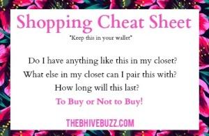 cheatsheetshopping